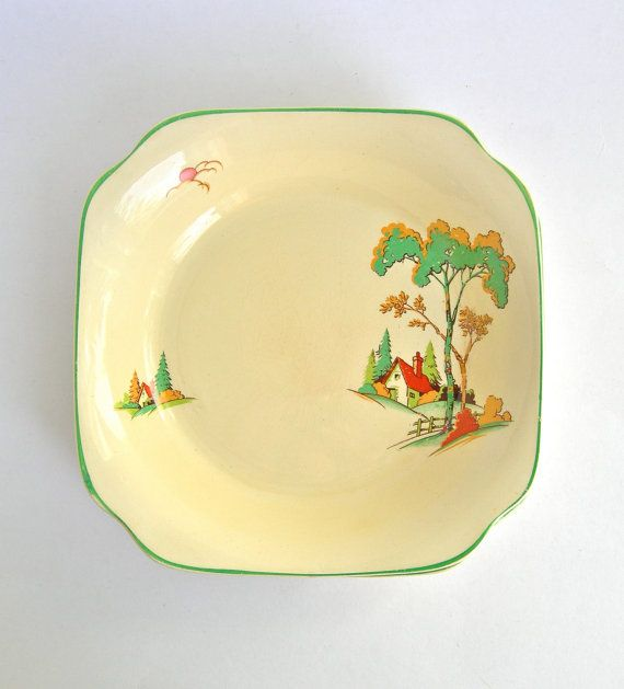 3 Clarice Cliff Staffordshire Pottery 1930's by LaVieDeLimbuni, $200.00