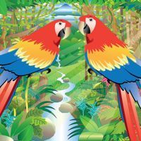 Nature Maestro Rainforest Day Soundscape - Two Scarlet Macaws by dhysom on SoundCloud