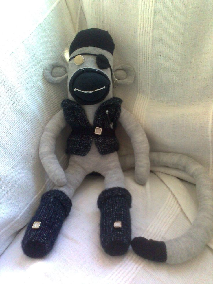 Pirate Sock Monkey made April 2012