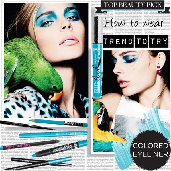 How to Wear Turquoise Eyeliner