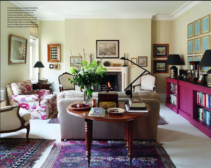 The plum purple in this room... amazing!