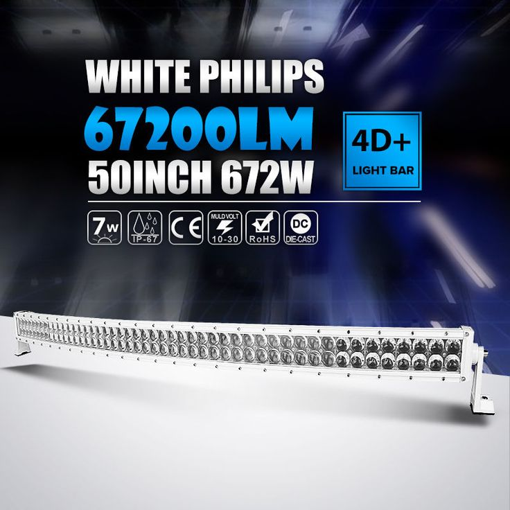 WHITE 50INCH 672W Curved LED Light Bar Offroad Fit For Dodge Ram 1500 Pickup 52