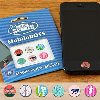 Lacrosse Girl MobileDOTS Home Button Sticker for iPhone and iPad   Lacrosse Button Stickers   Lacrosse Gifts