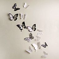 3D+Wall+Stickers+18PCS+Butterfly++Wall+Decals+Wedding+Decoration+–+USD+$+3.99