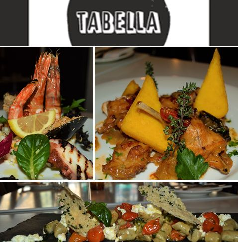 Tabella Restaurant in #Freo #Italian Wine & Food Week  Special Menu for the Festival by Chef Angelo Bruno #SEAFOOD TRIO Fremantle grilled octopus and tiger prawns with gratinated mussels served on a bed of rice salad EGGPLANT & RICOTTA #GNOCCHI Home-made Eggplant Gnocchi served with cherry tomato confit, basil pesto and topped with fresh ricotta flakes CONIGLIO E #POLENTA Braised rabbit cooked with a selection of seasonal vegetables in pinot grigio wine, thyme and served with crispy polenta