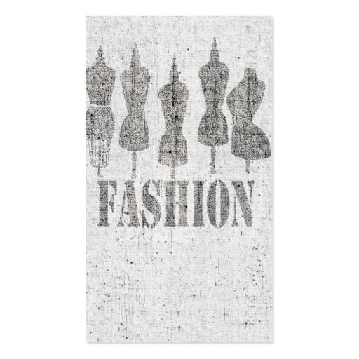 Retro Cute Vintage Tailor Dress Forms Business Card