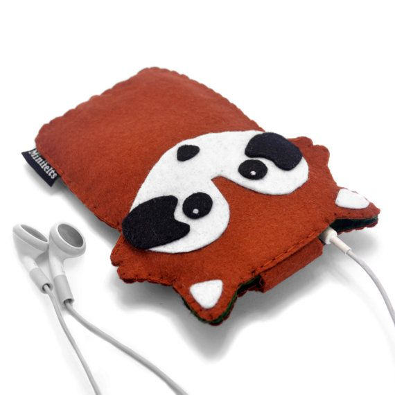 Felt iPhone Case Red Panda iPod Case Phone Case iPod by minifelts, £20.00