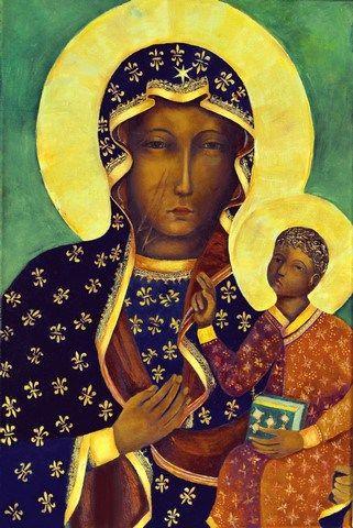 Matka Boska Częstochowska kopia obrazu Czarna Madonna z Jasnej Góry