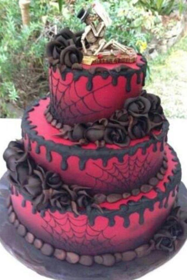 gothic cake cake ideas pinterest black roses pink