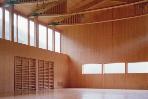 Gion A. Caminada - Multi-purpose hall, Vrin 2003.