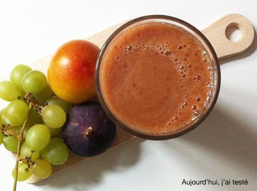 Grape, Plum & Fig : A Fall Smoothie, by Aujourd'hui, j'ai testé