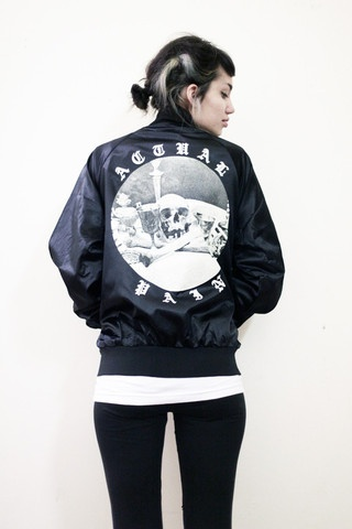 ACTUAL PAIN - Magic MF // Nylon Snap Up Jacket // Black