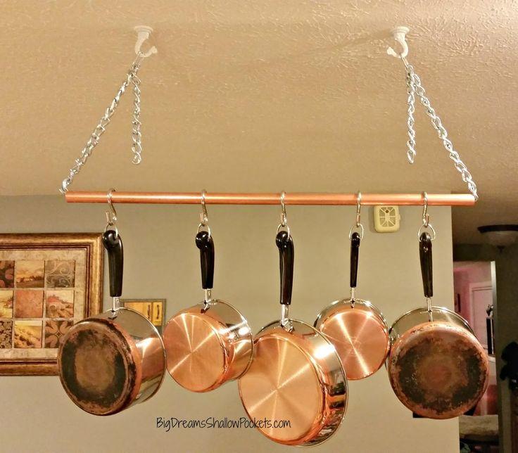best 25 industrial pot racks ideas on pinterest pot rack pot rack hanging and pan rack. Black Bedroom Furniture Sets. Home Design Ideas