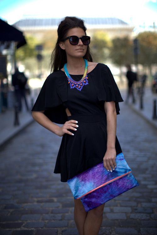 add a splash of color to your lbd