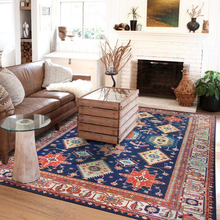 Ruggable Noor Sapphire Indoor Outdoor Area Rug Reviews Wayfair Washable Area Rugs Ruggable Area Rugs #washable #living #room #rug