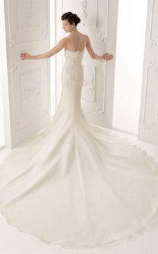 Abito da Sposa Formale Retro alta vita/cintola Romantico Elegante