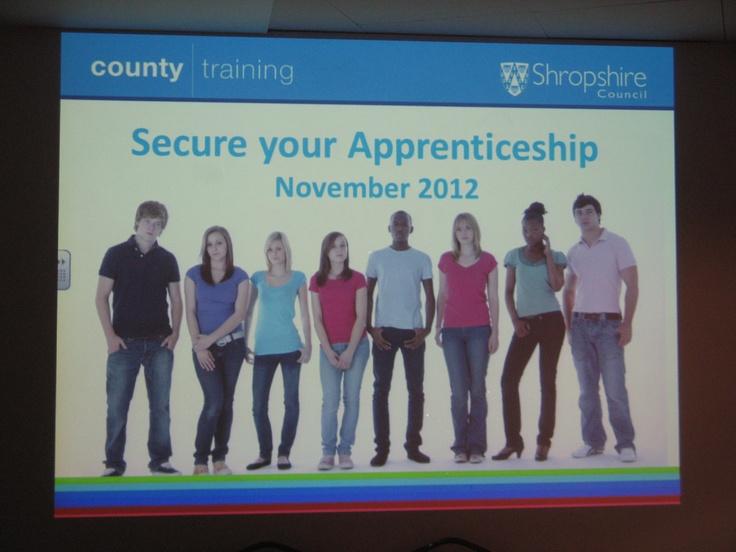 Secure Your Apprenticeship November 2012 Presentation/Event