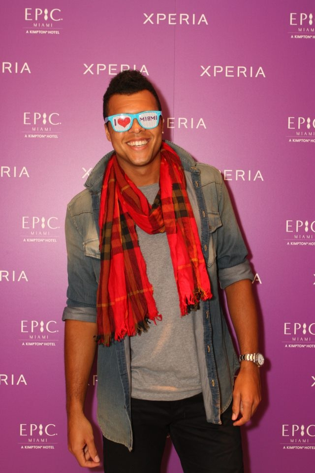 Tennis | Jo-Wilfried Tsonga at the 2012 Sony Ericsson Baller Party in Miami