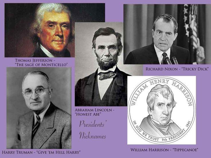 5 presidential nicknames