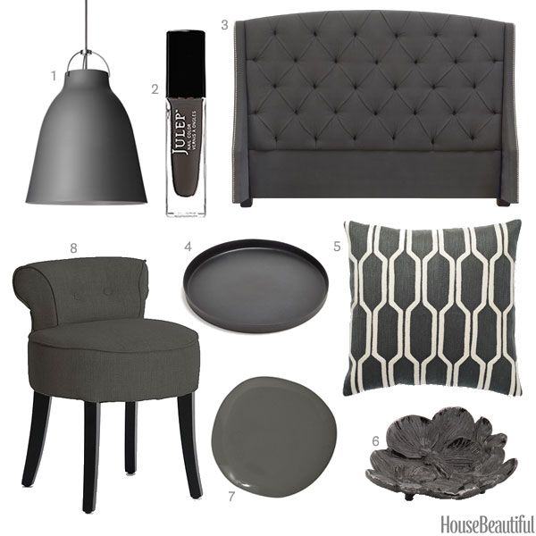Pic Of Color of the Week Charcoal Gray Charcoal GrayHouse AccessoriesGray PaintHouse BeautifulIs BeautifulBedroom IdeasHome IdeasHome DecorStyle