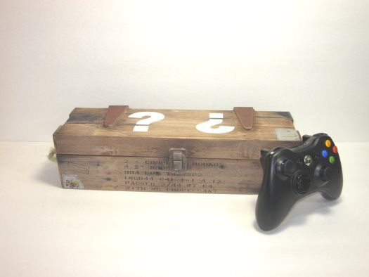 A real life Call of Duty Zombies Inspired Miniature Mystery Box with sounds!  http://www.zombiegift.com/zombie-blog/2013/08/13/real-life-call-of-duty-inspired-mini-mystery-box/