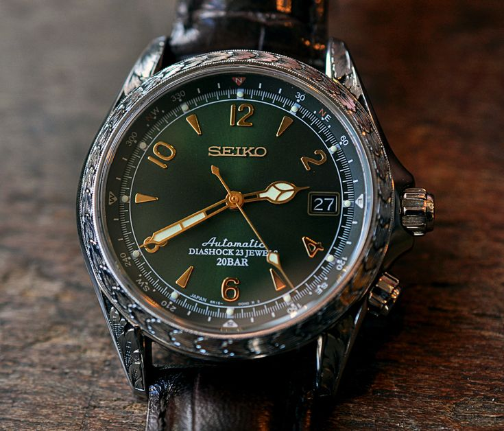 Seiko Alpinist - $1,200 w. custom engraving