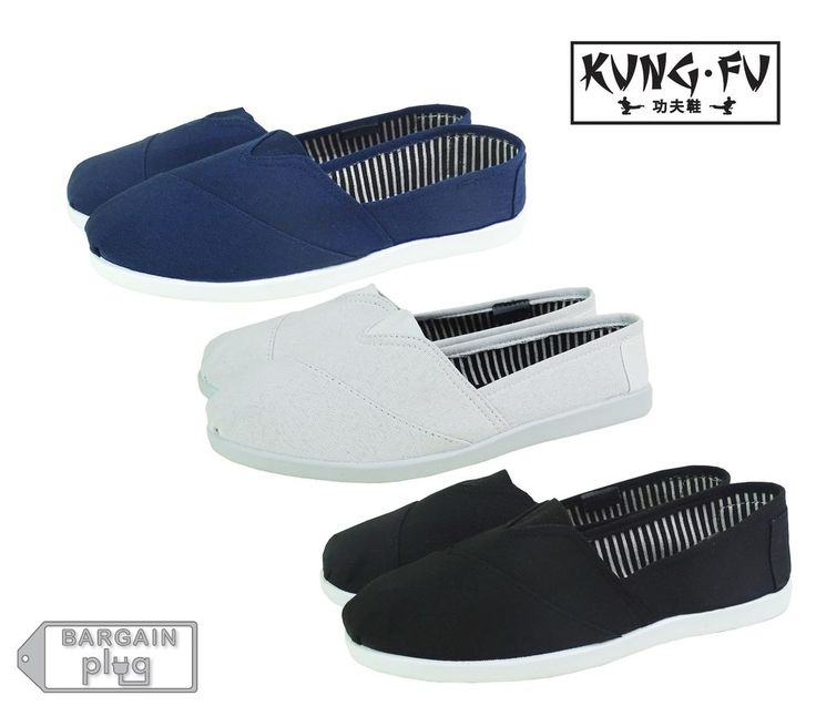 Mens Canvas Shoes Slip On Kung Fu Casual Colors Kicks House Loafers Karate Ninja in Clothing, Shoes & Accessories | eBay