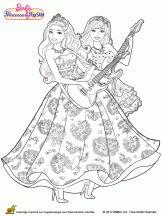 Tori Keira Robe Guitare Barbie Colouring Pages Popstar And Princess