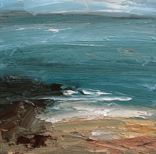 Louise Balaam, 'Pale Sand, Distant Coast', oil on board