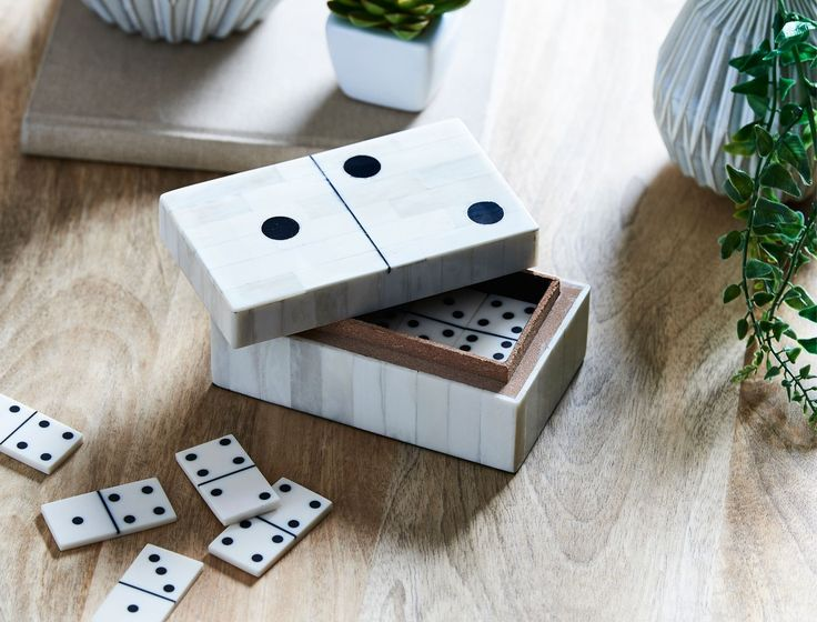 BOXED+DOMINO+SET++-+WHITE/BLACK