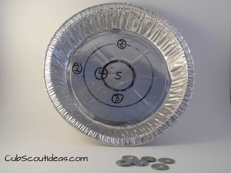 Pie Plate Pitch is a great Cub Scout Gathering Activity. Use it to get the boys ready to start the meeting.