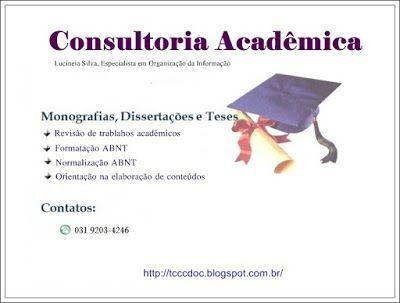 REVISÃO E FORMATAÇÃO DE TCC : Consultoria Acadêmica - Serviços
