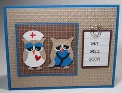 Nurse and Doctor Owl Punch Art Rita Santos #Stampinup #punchart