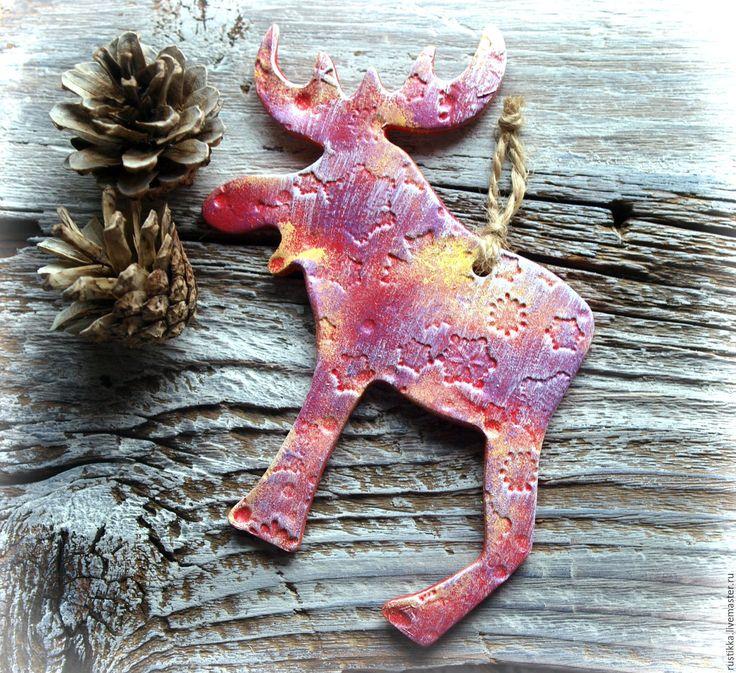 Купить Ёлочная игрушка - комбинированный, новогодние украшения, Новый Год, елочные украшения, подарок на новый год