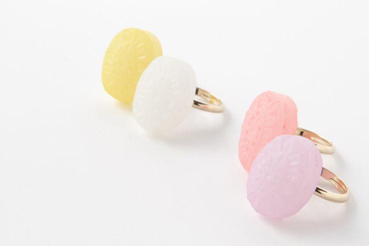 Sweet rings by cikolata/ドロップリング   トウメイ#japanesefashion #jewelry