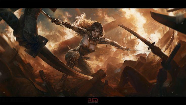 Resultado de imagen para mujer guerrera en guardia