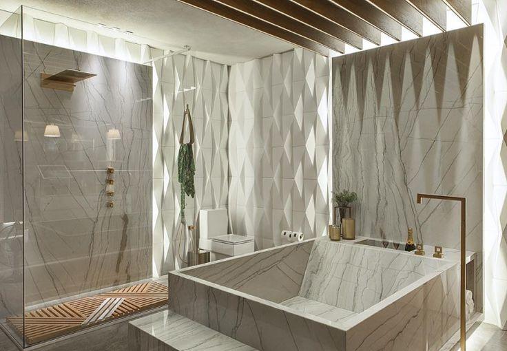Banheiras esculpidas em pedras: mármore e quartzito são tendência! Saiba mais!