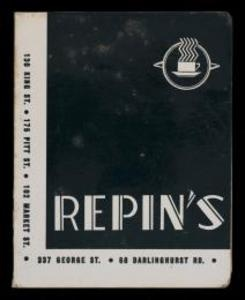 Menu from Repins Coffee Inn : About New South Wales