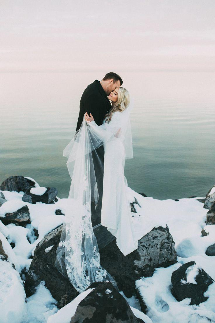 Beautiful winter wedding #scenery #snow #icy #wedding #love