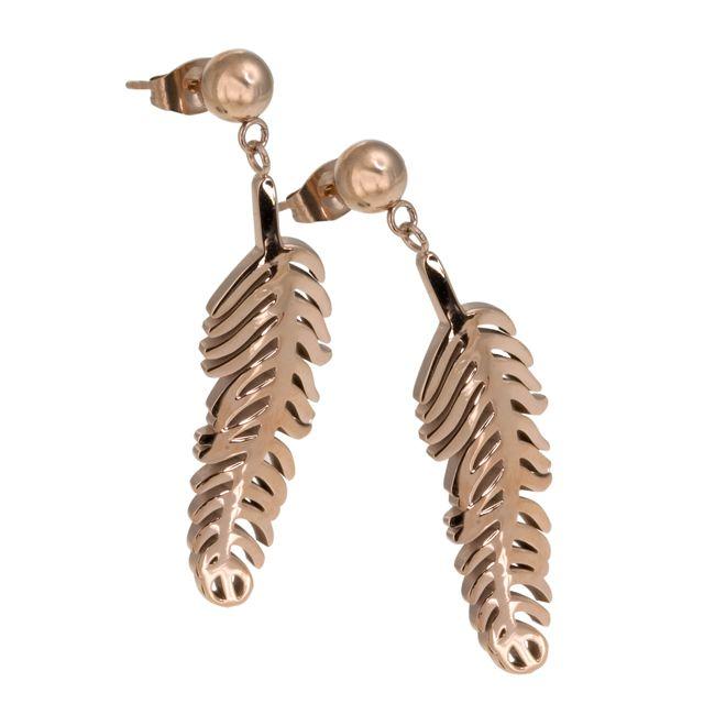 Ingnell Jewellery - Agnes earring rose. Stainless steel. www.ingnelljewellery.com