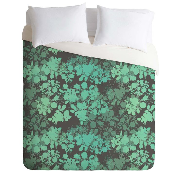 Gabi Audrey Teal Duvet Cover | DENY Designs Home Accessories