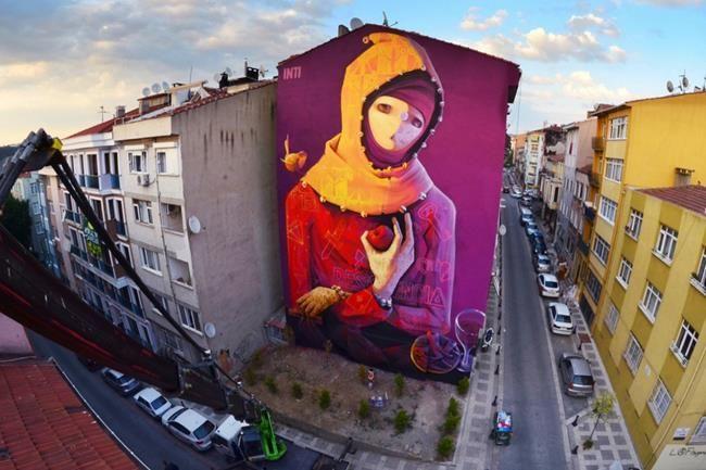 Mural İstanbul Kadıköy Sokak Sanatı Festivali 2017 Sanatçı Rehberi Sanatlı Bi Blog 3