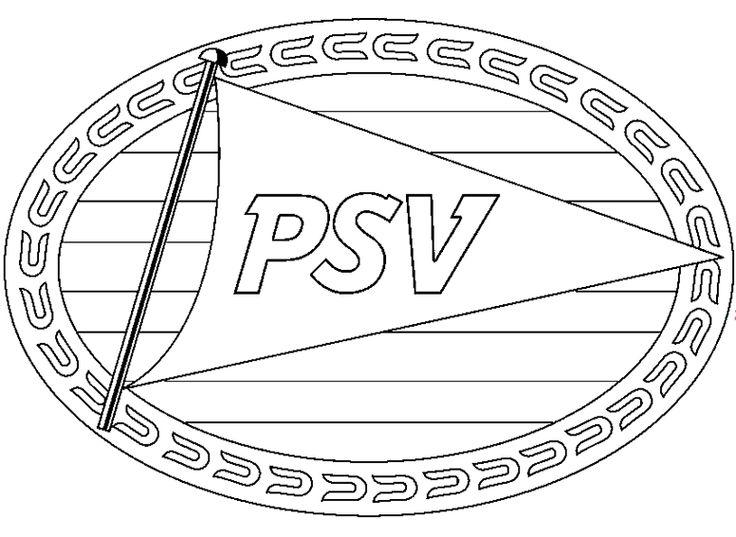 Voetbal Kleurplaat Nederland Logo Kleurplaten Psv Eindhoven Symbols Peace