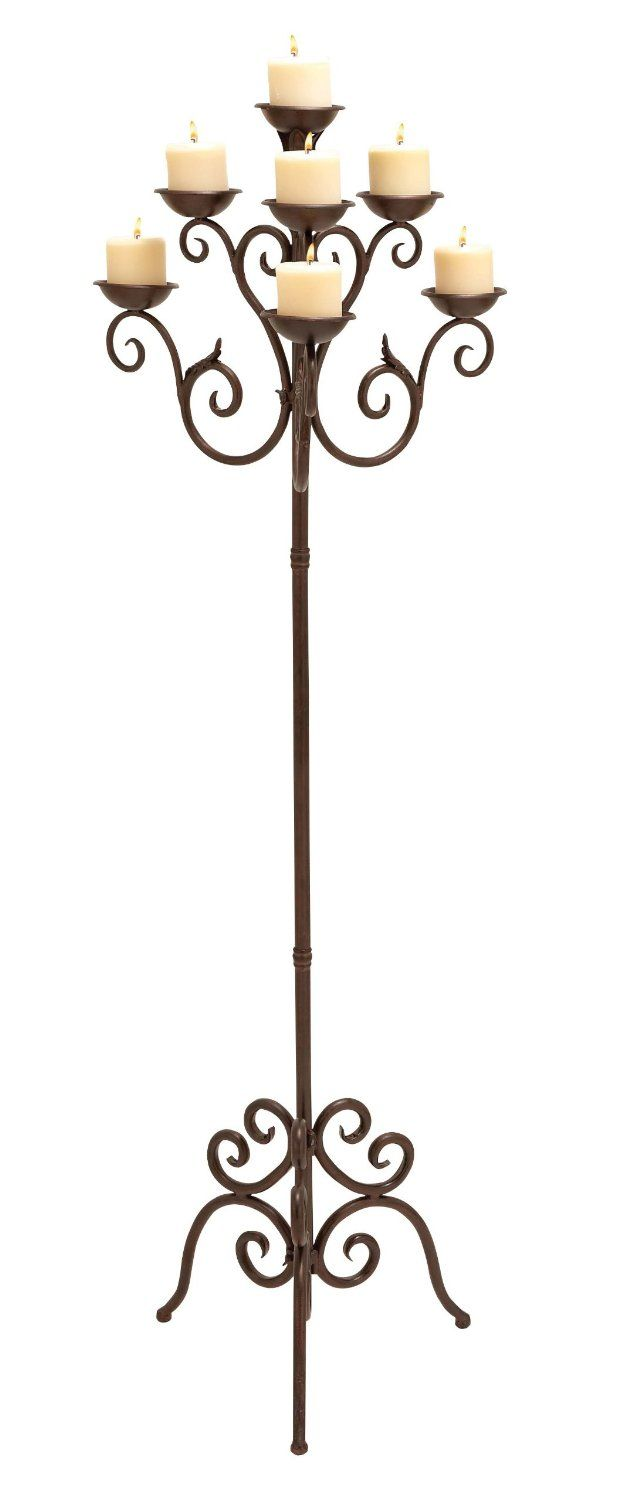 Candelabra with Copper Brown Finish on sale for only $212.90 save 43%! ~~~~  #wedding, centerpiece, home decor or gift idea.  ~~~~ www.CandelabraCenterpieces.info