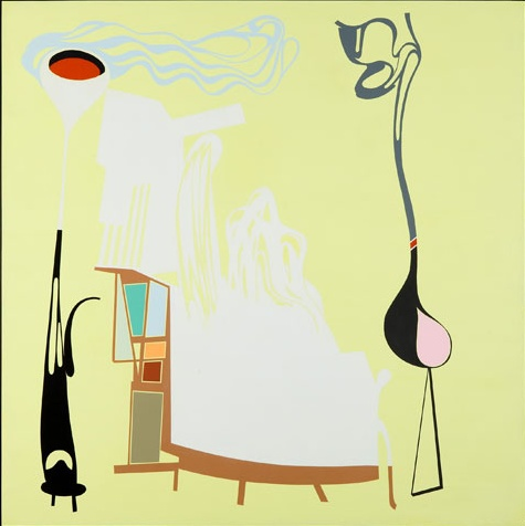 Life In Transition (Picture of My Hotel Room), 2010 acrylic on board 51x51in.