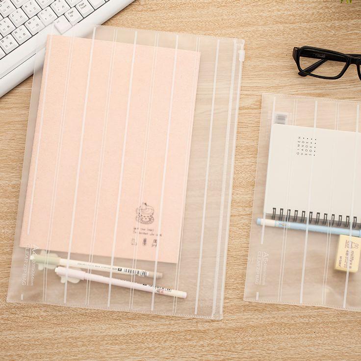A4/A5 Transprent Matte Plastic Document bag/paper bag/FIle bag/file…