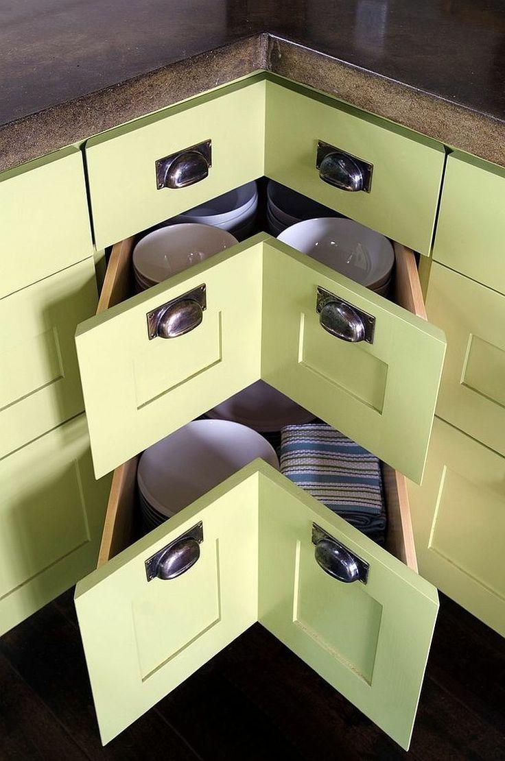 Las 25 mejores ideas sobre armarios de cocina de esquina - Armario de esquina ...