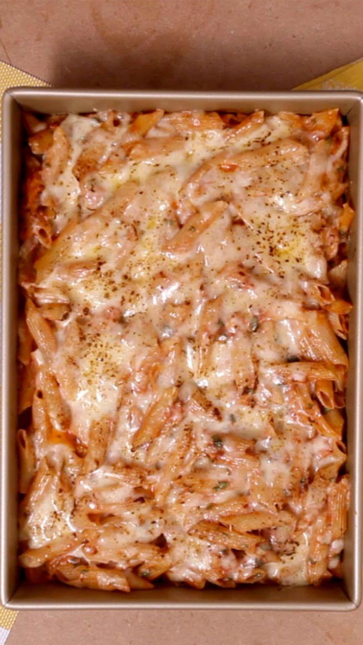 Lasanha de macarrão é uma delícia!