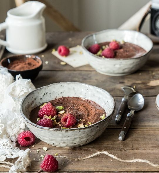 Raw chocolate pudding(Healthy,super easy and the most delicious!) | Bea's cookbook