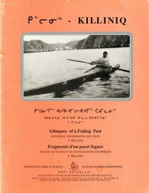 [Killiniq – Glimpses of a Fading Past]  This publication offers an overview of the history of Killiniq, a region first occupied by the Inuit many centuries ago and visited by Artic explorers as soon as 1587. Killiniq is represented herein through a collection of photographs, texts and historical facts recorded between 1569 and 1987. Excerpts of interviews with some Killinirmiut offer, among others, their point of view regarding the closing of their community in 1978.